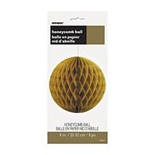 "12"" Gold Honeycomb Ball"