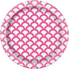 Hot Pink Scallop 7IN Plate