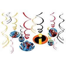 Incredibles 2 Swirl Decorations