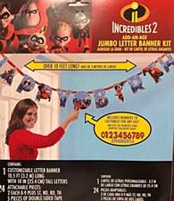 Incredibles 2 Jumbo Letter Banner