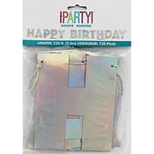 Iridescent Birthday Banner