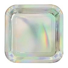 Iridescent 7' Square Plate