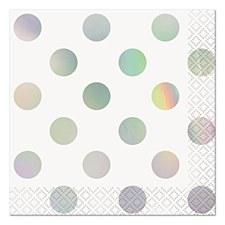 Iridescent Pok-A-Dot Bev Napkin