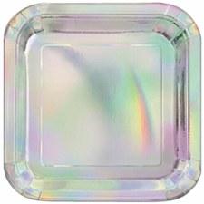 Iridescent 9' Square Plate