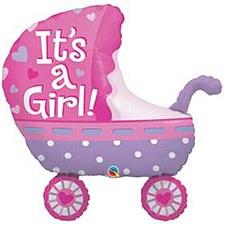 "35""It's A Girl Baby Stroller"