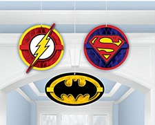 Justice League Honeycomb Decorations