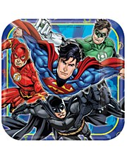 """9""""Justice League Plates"""