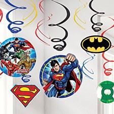 Justice League Swirl Decorations