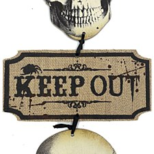 Keep Out Skull Sign Amscan 241548
