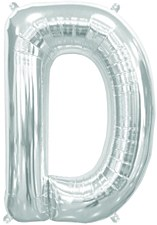 "16"" Letter ""D"" Balloon - Silver"