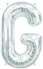 "16"" Letter ""G"" Balloon - Silver"