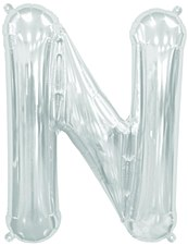 "16"" Letter ""N"" Balloon - Silver"