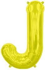 """16"""" Letter """"J"""" Balloon - Gold"""