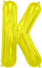 """16"""" Letter """"K"""" Balloon - Gold"""