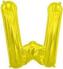 "16"" Letter ""W"" Balloon - Gold"
