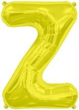 """16"""" Letter """"Z"""" Balloon - Gold"""