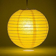 Sunflower Yellow Lantern 10in.
