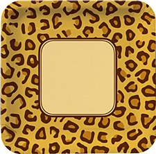 Animal Print Leopard Lunch Plate