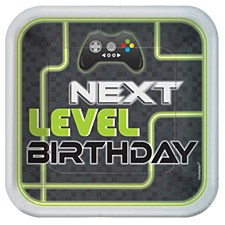 Level Up 9in Square Plates