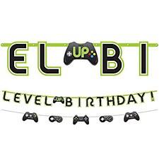 Level Up Birthday Banner