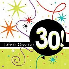 Life Is Great 30 Bev Napkins