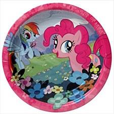 """My Little Pony Friendship Round Plates, 7"""""""
