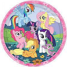 """My Little Pony Friendship Round Plates, 9"""""""