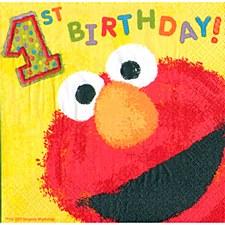 Elmo's 1st Birthday Lunch Napkins