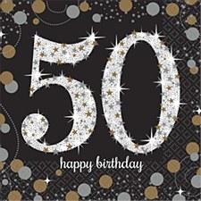 Sparkling Celebration 50 Lunch Napkins