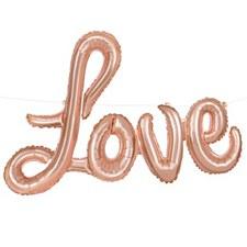 """Rose Gold Script """"Love"""""""