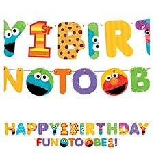 Sesame Street 1st Birthday Letter Banner Combo Pack