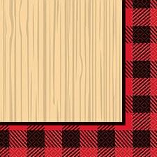Plaid Lumber Jack Bev. Napkin