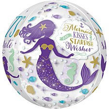 "15"" Orbz Birthday Mermaid Wishes"
