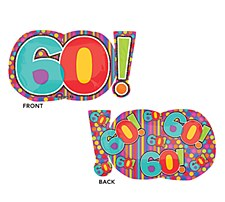 Super Shape 60th Birthday Dots & Stripes