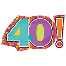 40TH Birthday Dots & Stripes