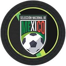 Seleccion Nacinal Mexico 7' Plates 8ct.