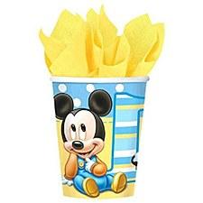 Mickeys 1st Birthday Cups