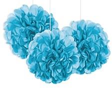 3 Powder Blue Mini Fuff Balls