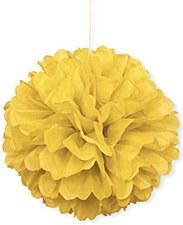3 Yellow Mini Puff Balls