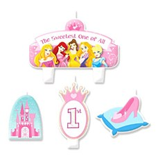 Princess 1st Birthday Candle Set