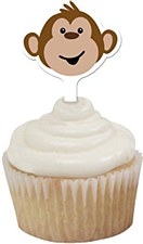 Monkeyin' Around Cupcake Toppers