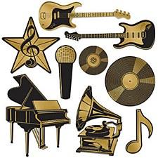 Music Award Foil Cutouts
