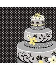 Chic Wedding Cake Lunch Napkin