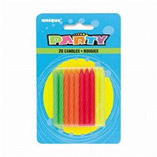 Neon Candles 20ct
