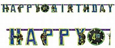 Teenage Mutant Ninja Turtles Jumbo Add-An-Age Paper Letter Banner