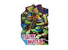 NINJA TURTLR INVITATION