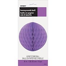 "Pretty Purple 8"" Honeycomb Ball"
