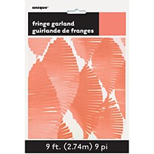 Orange Fringe Garland 9ft