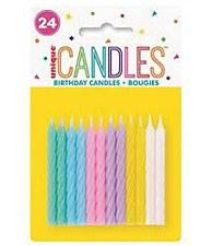 24 Pastel Color Candles