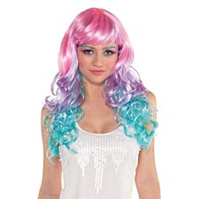 Pastel Rainbow Wig -1pc